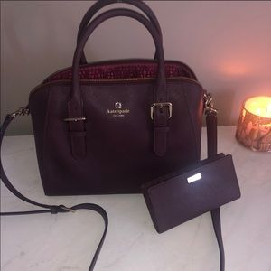 Kate Spade Burgundy Purse and Wallet
